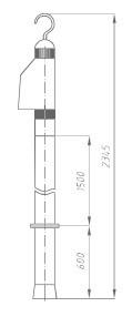 Указатель высокого напряжения УВНУ-35-110 ДК