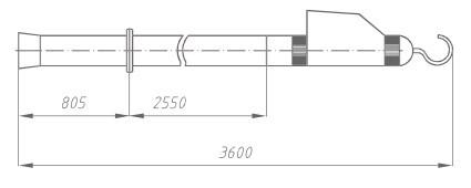 Указатель высокого напряжения УВНУ-220 Д