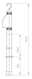 Указатель высокого напряжения УВНУ-35-220 ДК
