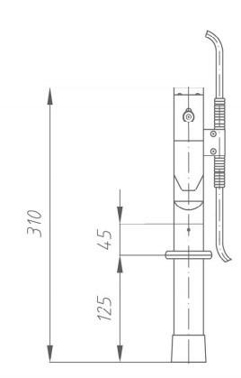 Переносное заземление ПЗУ-1 Д сеч. 16 мм2