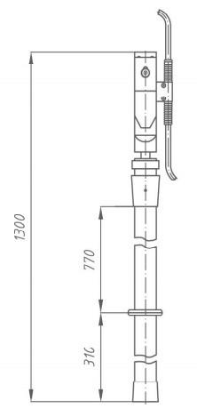 Переносное заземление ЗПЛ-10 Д сеч. 25 мм2, 1 штанга