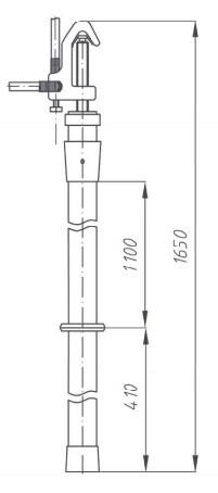 Переносное заземление ЗПЛ-35-1 Д сеч. 50 мм2, 1 штанга