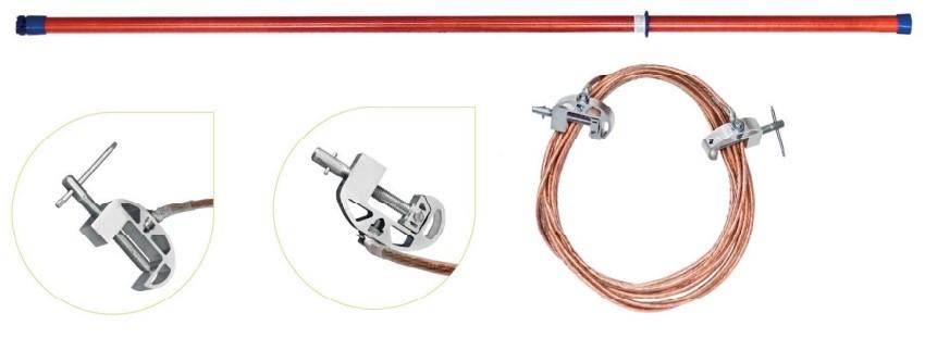 Переносное заземление ЗПЛ-110-1 Д сеч. 70 мм2, 1 штанга