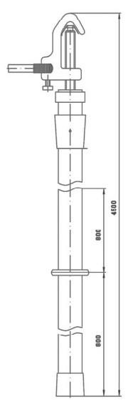 Переносное заземление штанговое ПЗ-110-220 Д сеч. 50 мм2 (пружинный зажим)