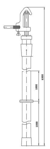 Переносное заземление штанговое ПЗ-330-500 Д сеч. 50 мм2 (пружинный зажим)