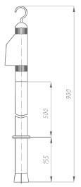 Указатель высокого напряжения УВНУ-6-35 ДК