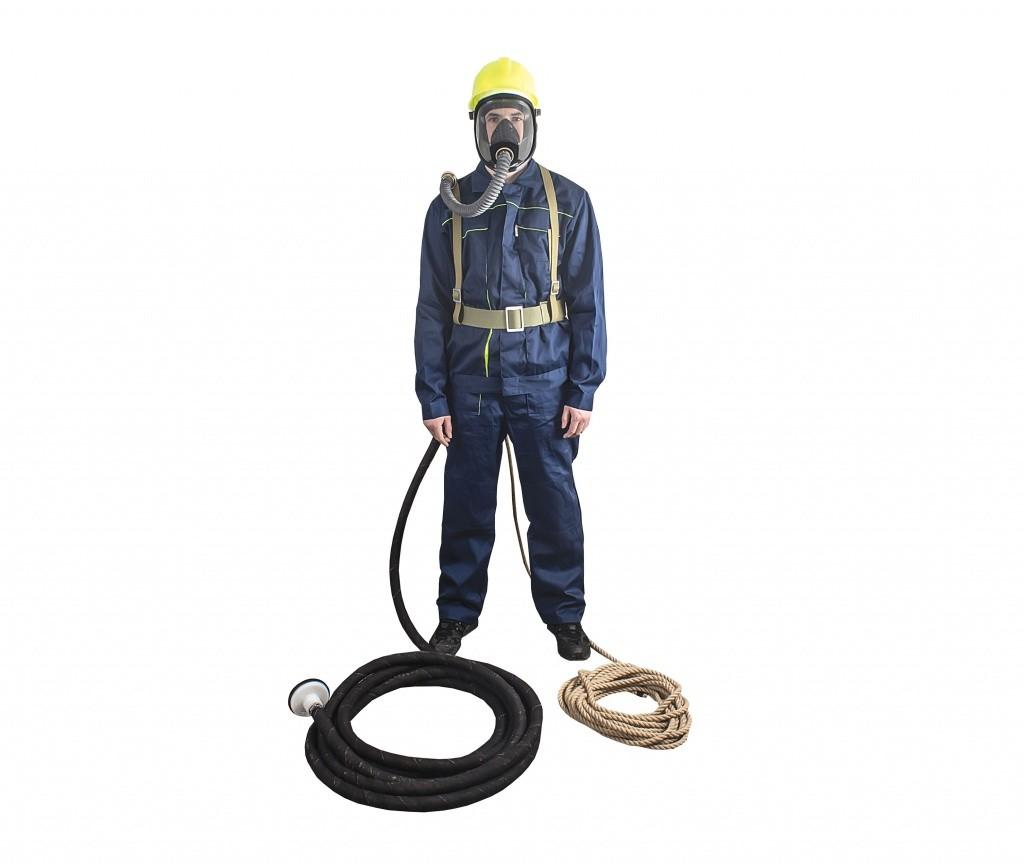 Противогаз изолирующий ПШ-1, бесприводной, шланг 10м, хб аммуниция, лицевая маска ШМ