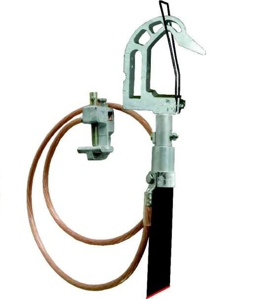 Переносное заземление для грозозащитного троса ПЗТ 750-1150 сеч. 16 мм2