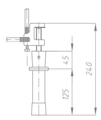 Переносное заземление ПЗРУ-1 Д сеч. 25 мм2