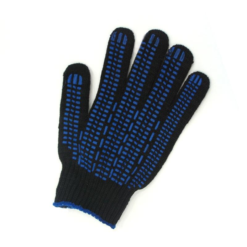 Перчатки защитные Люкс, 10 кл  черные (точка, волна, протектор)