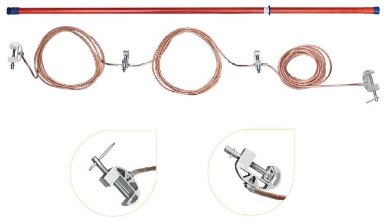 Переносное заземление ЗПП-110 Д сеч. 70 мм2, 1 штанга