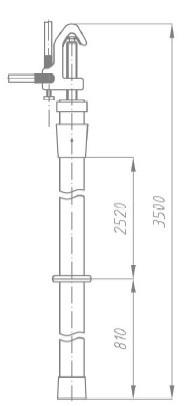 Переносное заземление ЗПП-220 Д сеч. 95 мм2, 1 штанга