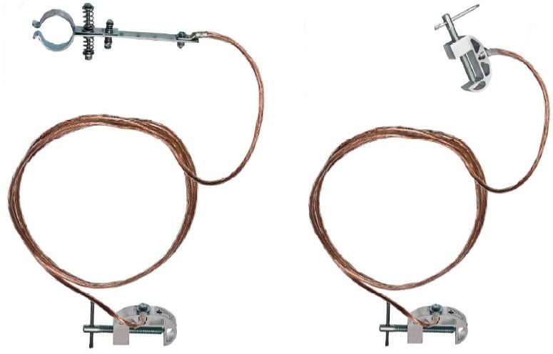 Переносное заземление для пожарных стволов ЗПС-1 Д сеч. 25 мм2, дл. 30 м