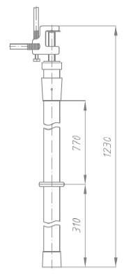 Переносное заземление ЗПП-15 Д сеч. 25 мм2, 1 штанга