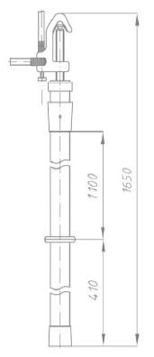 Переносное заземление ЗПП-35 Д сеч. 50 мм2, 1 штанга