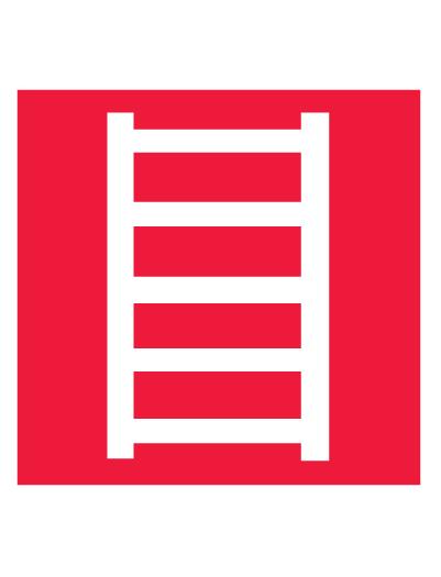 Знак пожарной безопасности F03 Пожарная лестница (Пленка 200 х 200)