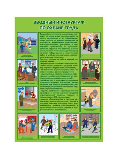 """Плакат по охране труда """"Вводный инструктаж по охране труда"""""""