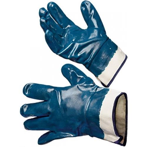Перчатки механически стойкие нитриловые манжет крага, полный облив