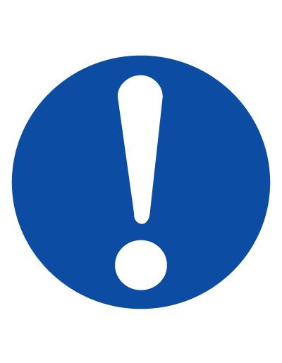 Знак предписывающий M11 Общий предписывающий знак (Пленка 200 х 200)