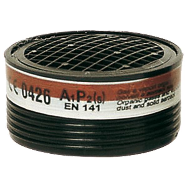 Запасной фильтр к респиратору Sacla EURMASK, объем 220 м3, А1Р2, органические газы, токсические загрязнения до 10 от нормы
