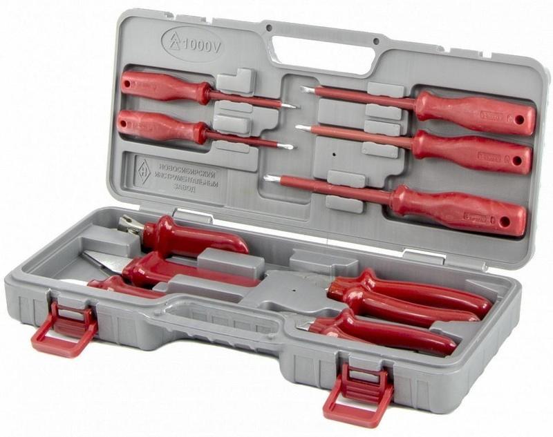 Набор «Электромонтажник-3» (10 шт, хром, в пластиковом кейсе, НИЗ), с протоколом испытаний