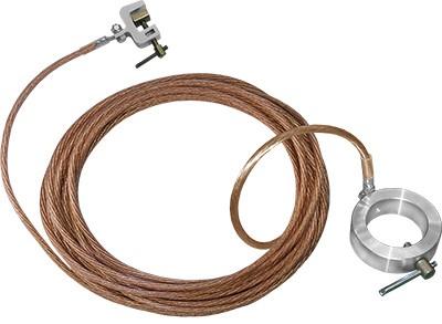 Переносное заземление для пожарных стволов ЗПС-1 сеч. 25 мм2, дл. 15м, с протоколом осмотра