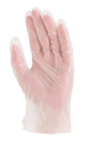 Перчатки одноразовые виниловые, с присыпкой, нестерильные, 0.125 мм, 23 см