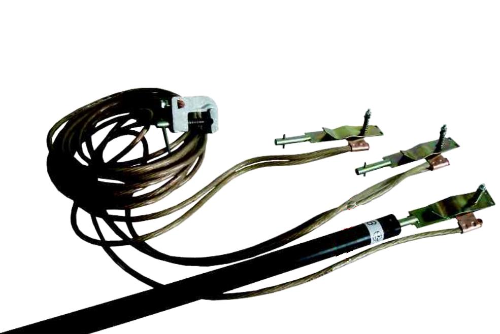 Переносное заземление ЗПЛ-220 сеч. 25 мм2, 1 штанга, с протоколом испытаний
