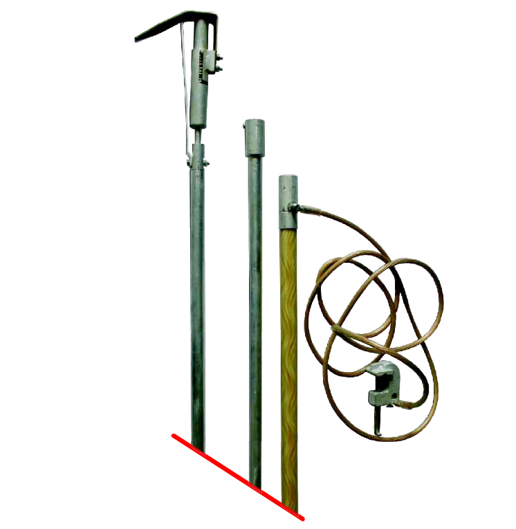 Переносное заземление штанговое ПЗ 110-220Ш