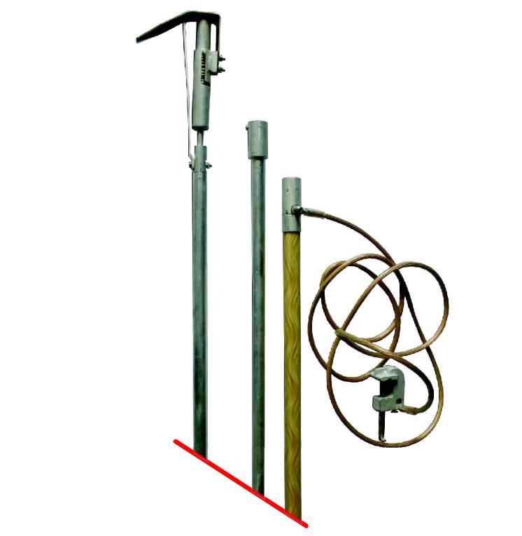 Переносное заземление штанговое ПЗ 750Ш, с протоколом испытаний