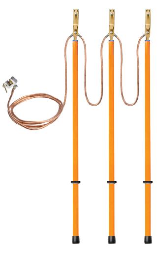 Заземление переносное для воздушных линий ЗПЛ-10-3 сеч. 25 мм2  (Электроприбор)