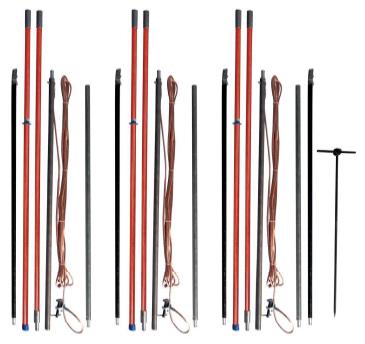 Комплект штанг для заземления воздушных линий с поверхности земли КШЗ-10 Д сеч. 70 мм2