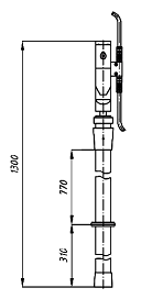 Переносное заземление ЗПЛ-10 Д сеч. 95 мм2, 1 штанга