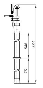 Переносное заземление ЗПЛ-110-1 Д сеч. 25 мм2, 1 штанга