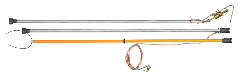 Заземление штанговое с металлическими звеньями ЗПЛШМ-110-220 сеч. 25 мм2 (Электроприбор)