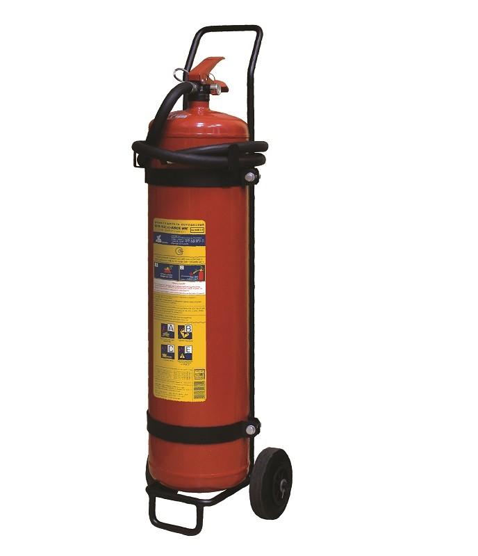 Огнетушитель порошковый ОП-12(з) МИГ  (6А, 233В, С, Е) передвижной (Пожтехника)