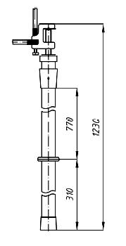 Переносное заземление ЗПП-15 Д сеч. 35 мм2, 1 штанга