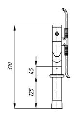 Переносное заземление ЗПЛ-1 Д сеч. 70 мм2, винтовой зажим