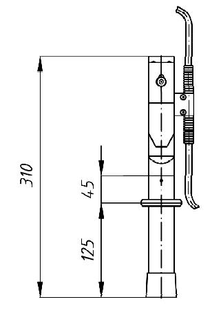 Переносное заземление ПЗУ-1 Д сеч. 25 мм2