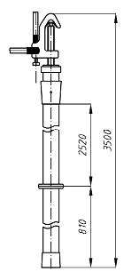 Переносное заземление ЗПЛ-220-1 Д сеч. 50 мм2, 1 штанга
