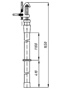 Переносное заземление ЗПП-35 Д сеч. 70 мм2, 1 штанга