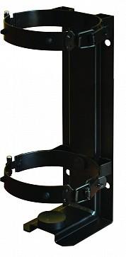 Кронштейн для огнетушителя транспортный КТХ-3+ на 2-х металлических хомутах  (d147) для ОП-3 МИГ (Пожтехника)