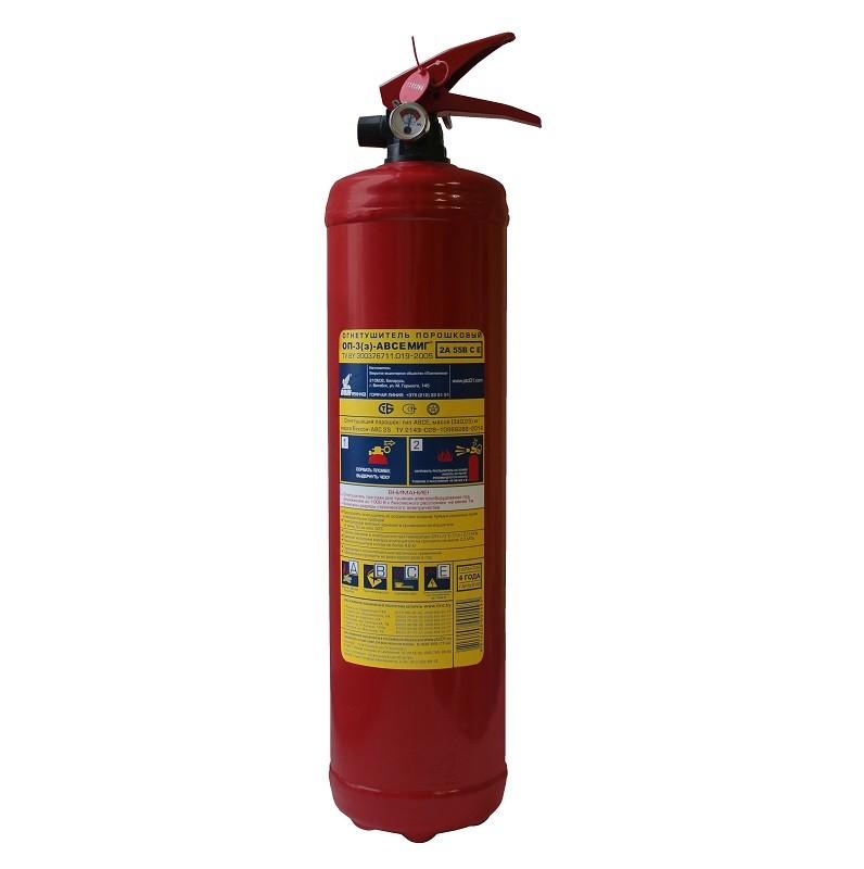 Огнетушитель порошковый ОП-3(з) МИГ d110 (2А, 55В, С, Е) (Пожтехника)