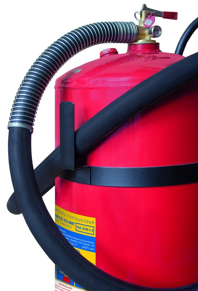 Огнетушитель порошковый ОП-50(з) МИГ на тележке с перекрывным стволом, баллон 62,5л., ОТВ-50кг. (Пожтехника)