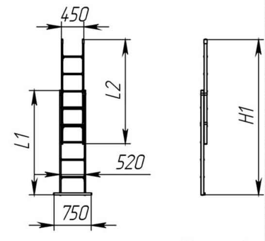Лестница-стремянка универсальная стеклопластиковая ССД-У 2х9