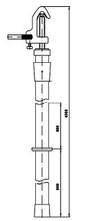 Переносное заземление штанговое ПЗ-110-220 Д сеч. 25 мм2 (пружинный зажим)