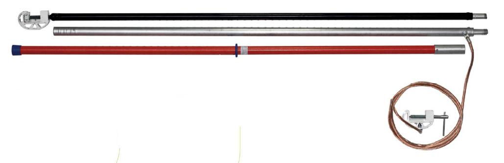 Переносное заземление штанговое ПЗ-330-500 Д сеч. 25 мм2 (винтовой зажим)