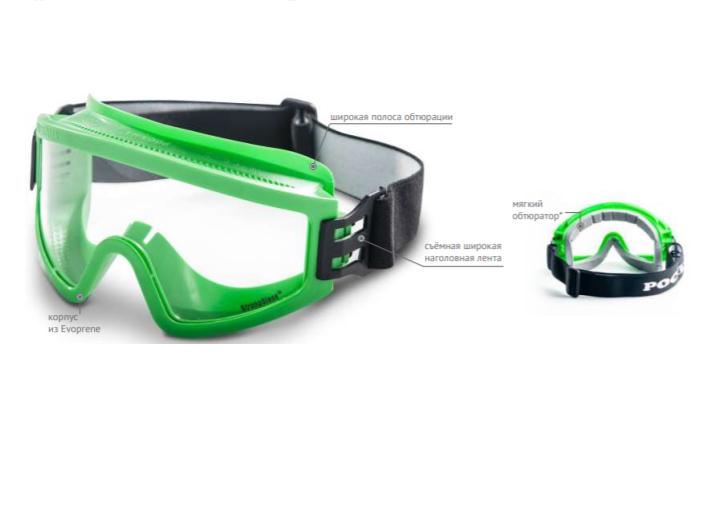 Очки защитные закрытые с непрямой вентиляцией ЗН11 PANORAMA StrongGlass (6 РС) 21135