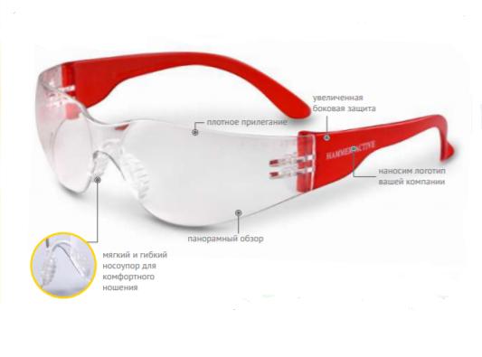Очки защитные открытые О15 HAMMER ACTIVE StrongGlass (2С-1,2 PC) 11537