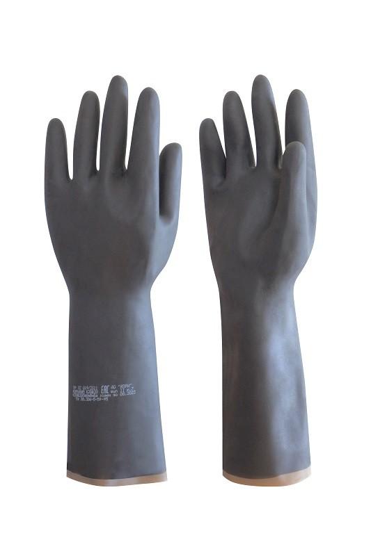 Перчатки резиновые технические кислотощелочестойкие «АЗРИХИМ» КЩС К20Щ20 тип 2